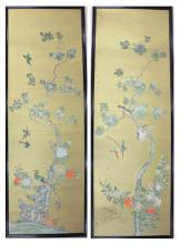 Lot 149: A LARGE PAIR OF OIL PAINTINGS ON PANEL, Chinese, 2