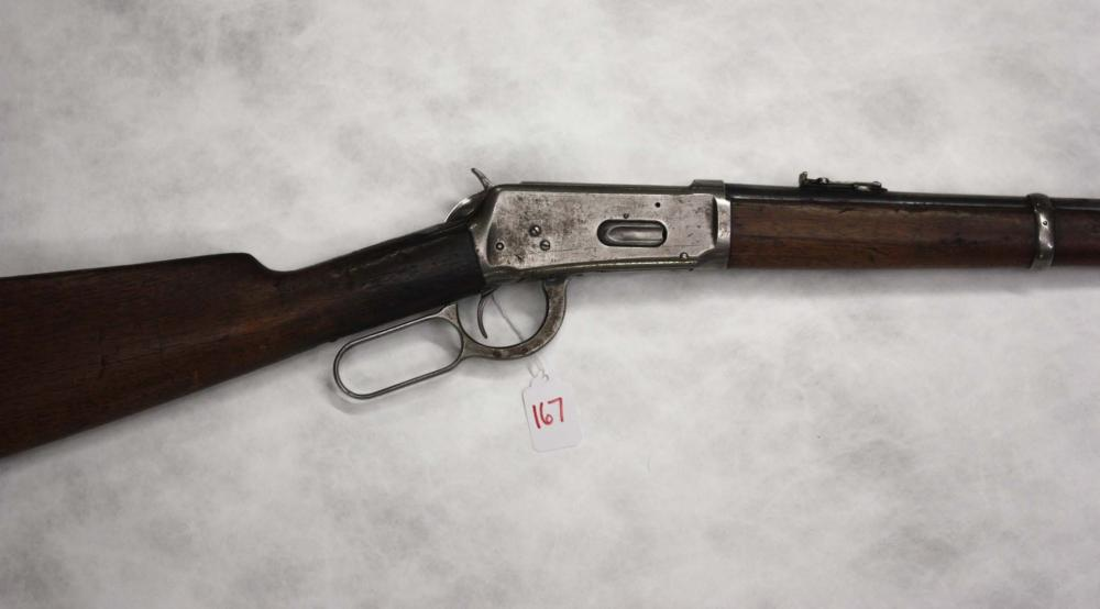 Lot 167: WINCHESTER MODEL 94 LEVER ACTION SADDLE RING CARBI