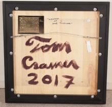Lot 159: TOM CRAMER (Oregon, born 1960) oil and silver leaf
