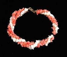 Lot 184: NINE ARTICLES OF CORAL JEWELRY, including an 18-1/