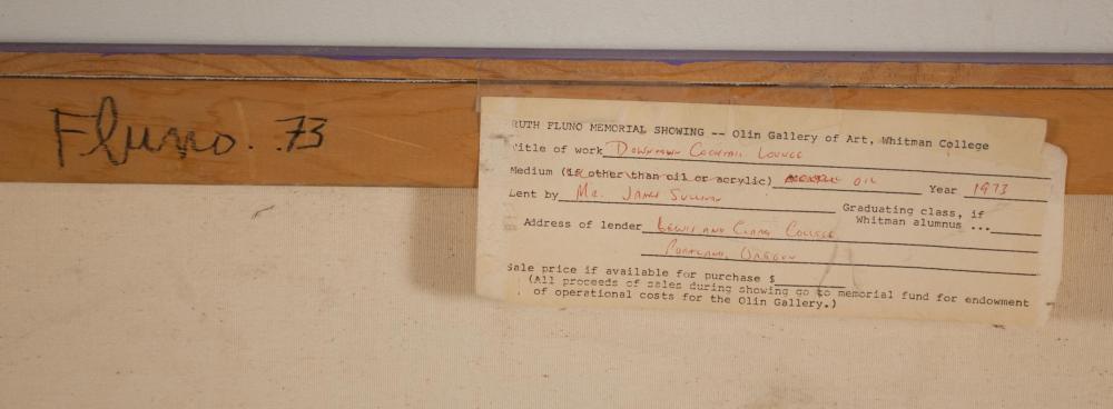 Lot 183: RUTH FLUNO (Washington, 1923-1974) acrylic on canv