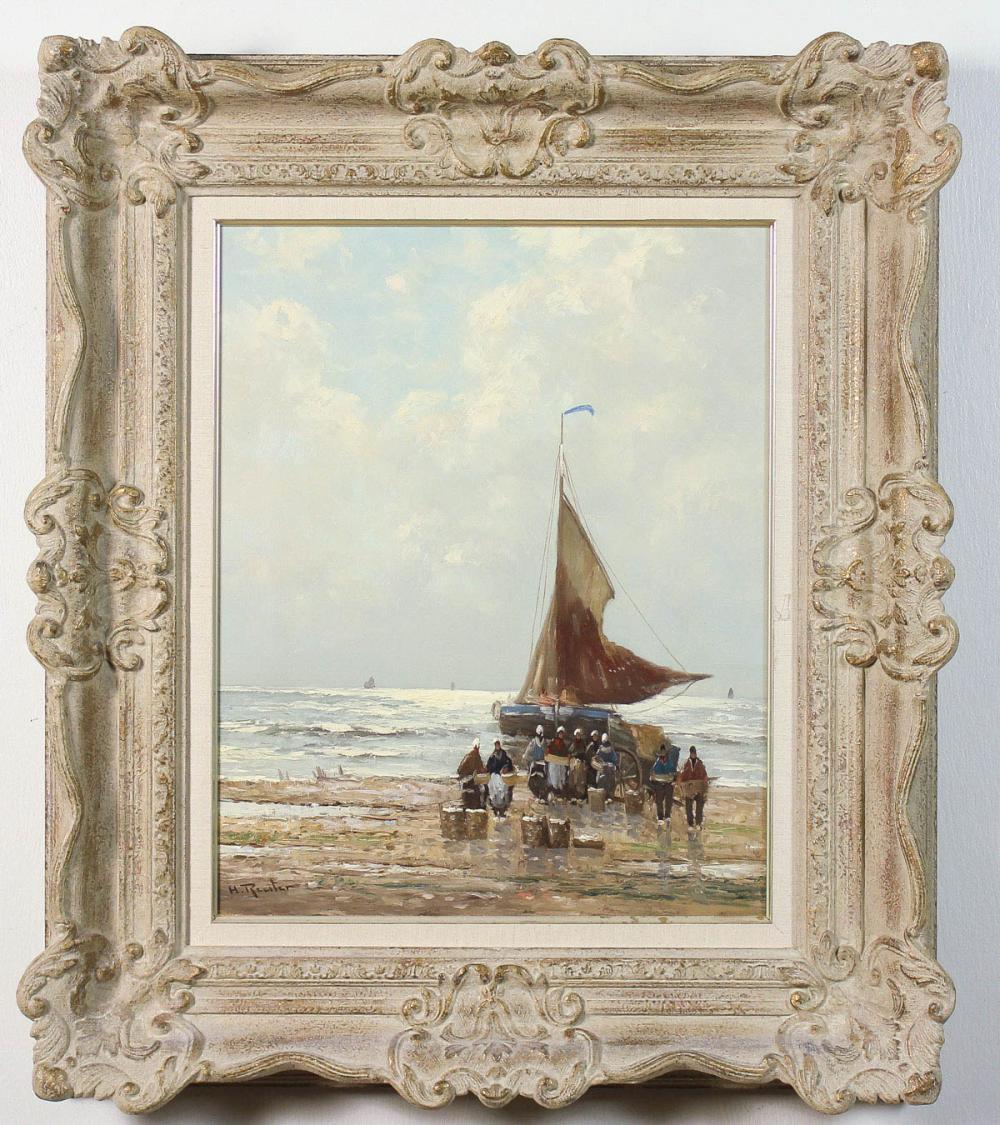 Lot 195: HELMUT REUTER (Germany, 1913-1985) oil on canvas,