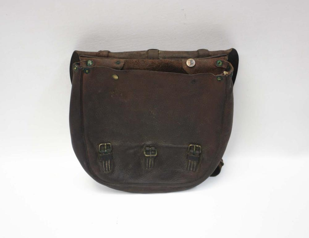 Lot 215: U.S. MARKED MAIL BAG/SACHEL, made of brown leather