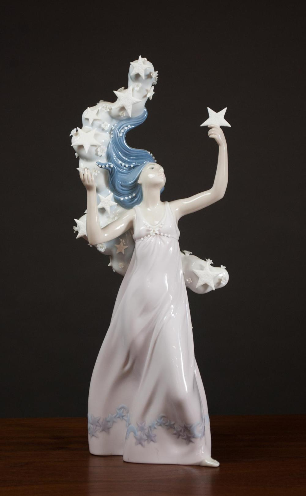 """Lot 224: LLADRO """"MILKY WAY"""" PORCELAIN FIGURINE, #6569, for"""