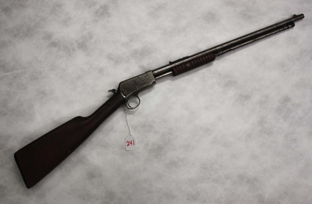 Lot 241: WINCHESTER MODEL 06 SLIDE ACTION RIFLE, 22 s,l or