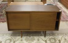 Lot 281: THREE MID-CENTURY MODERN CONSOLE CABINETS, America