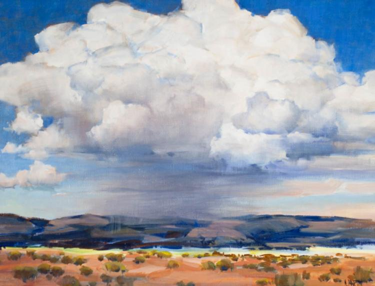 MARIE MARTIN OIL ON CANVAS (California/Oregon, bor