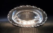 DOMINICK & HAFF STERLING SILVER OVAL BOWL.  Length