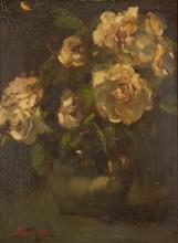 FRANK MURA OIL ON PANEL (New York, born 1861) Flor