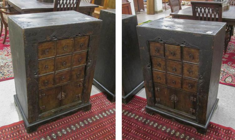 PAIR OF APOTHECARY/HERB CHESTS, Chinese, 19th cent