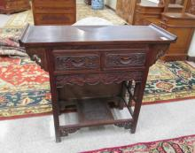 MING STYLE CARVED HARDWOOD ALTAR TABLE, Chinese, 2