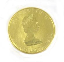 THREE CANADIAN GOLD MAPLE LEAF COINS, $50 dollar d