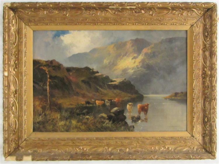 SCOTTISH HIGHLANDS OIL ON CANVAS, early 20th centu