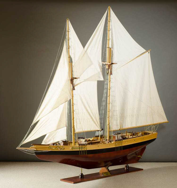 A LARGE SAILING SHIP MODEL of the