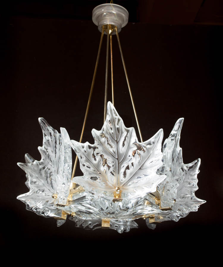 LALIQUE CHAMPS-ELYSEES CRYSTAL CHANDELIER, a Marc