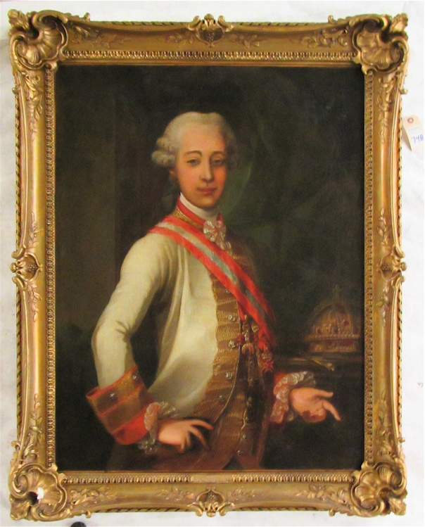 PORTRAIT OF A YOUNG JOSEPH II, OIL ON CANVAS, 19th