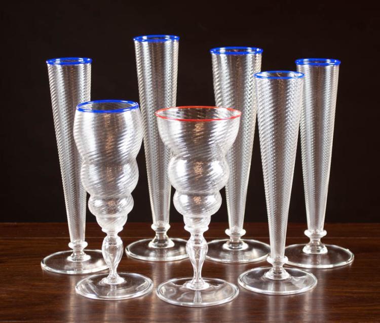 DANTE MARIONI ART GLASS STEMWARE (American b. 1964