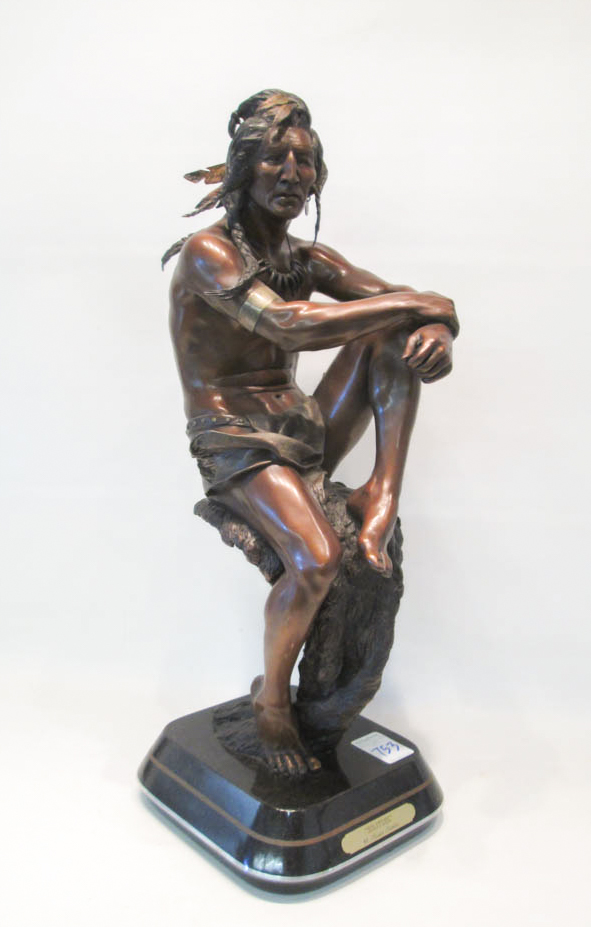 AUSTIN BARTON BRONZE SCULPTURE (Oregon, born 1927)