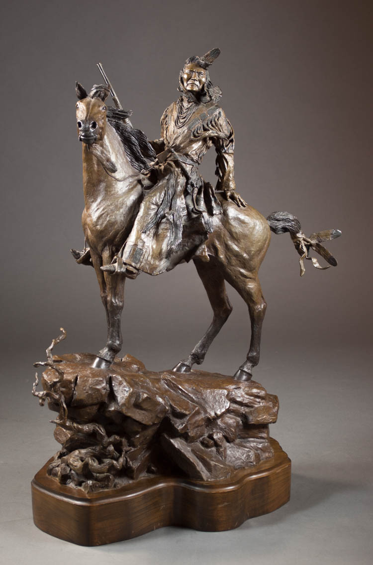 DAVID MANUEL (OREGON, B. 1940) ORIGINAL BRONZE SC