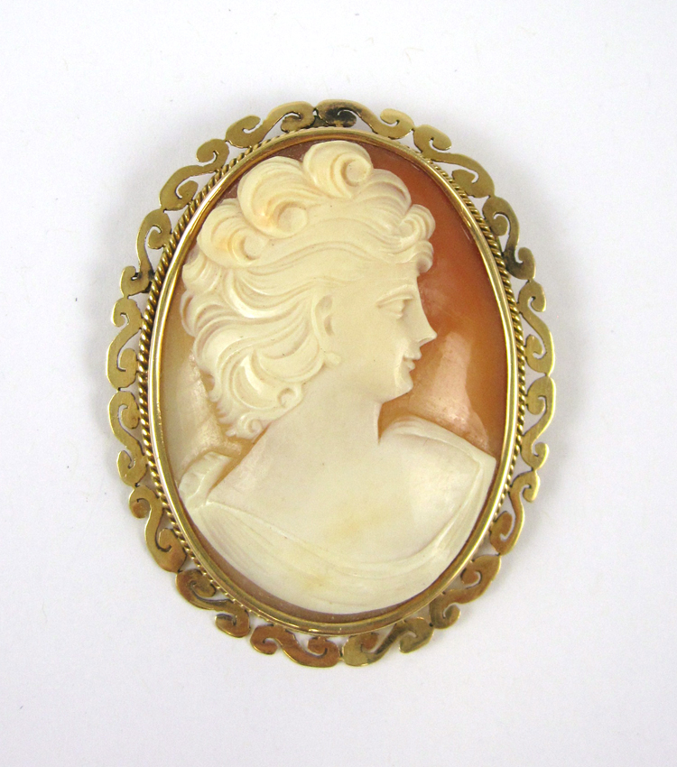 VICTORIAN CAMEO PENDANT/BROOCH, with a relief carv