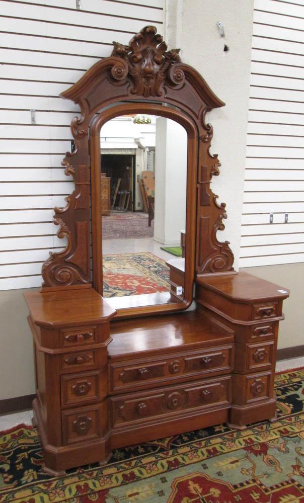 VICTORIAN WALNUT DRESSER, Renaissance Revival styl