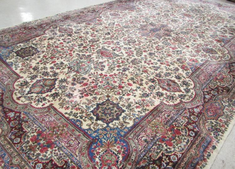SEMI-ANTIQUE PERSIAN KERMAN CARPET, Kerman Provinc