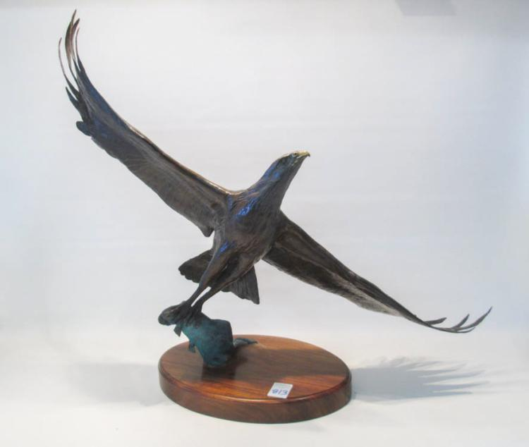 DAVID SCHAEFER BRONZE SCULPTURE (American, 1949-20