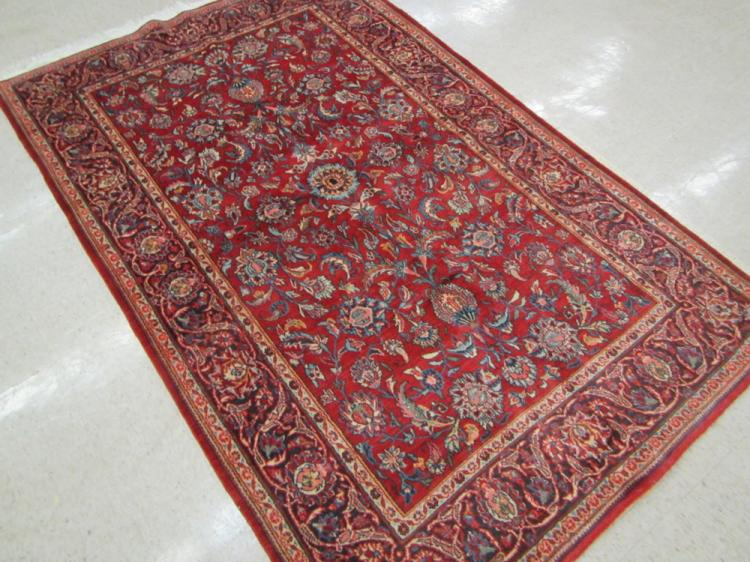 SEMI-ANTIQUE PERSIAN SAROUK AREA RUG, Arak region,