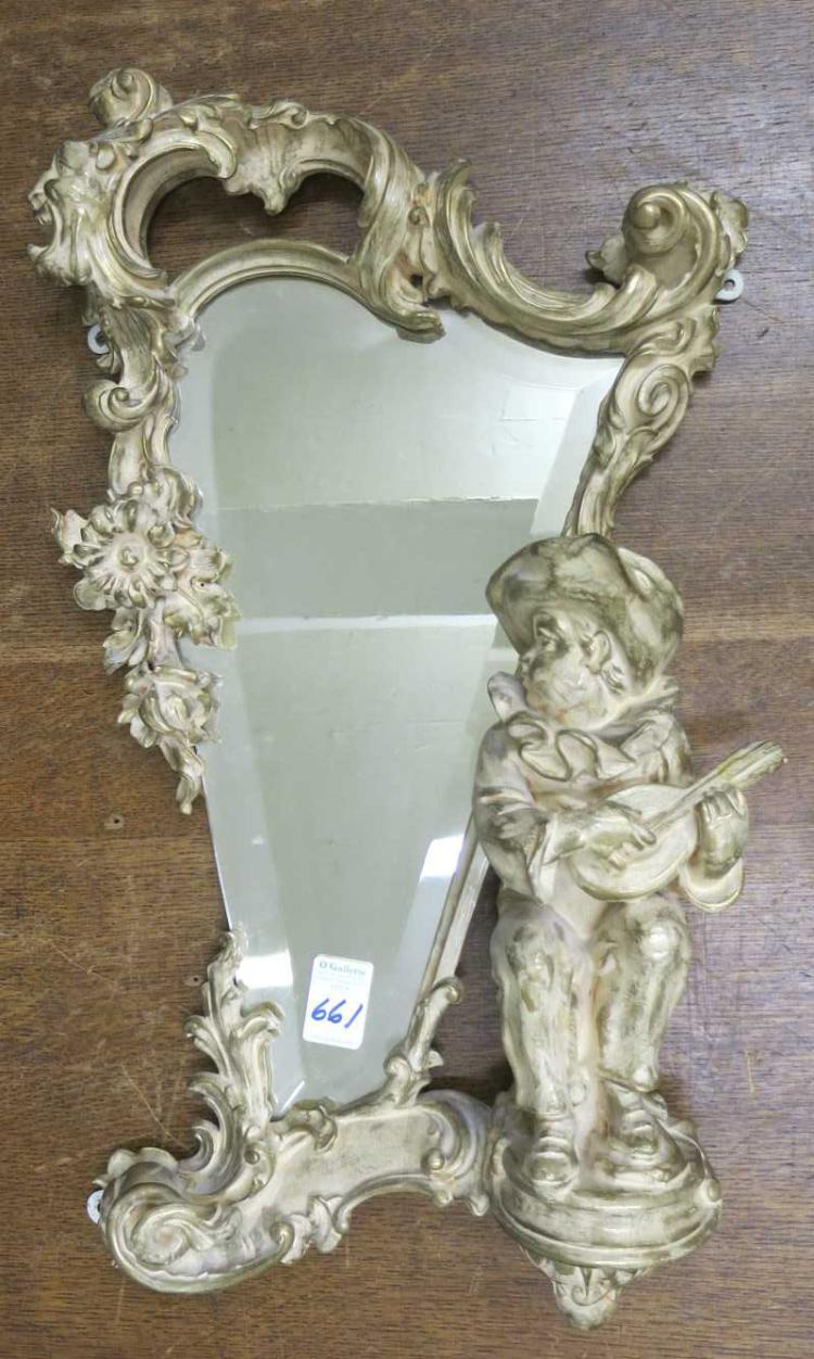 FRENCH STYLE COMMEDIA DELL'ARTE WALL MIRROR, a har