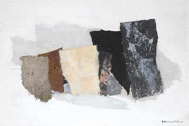 PAUL HORIUCHI COLLAGE on panel titled