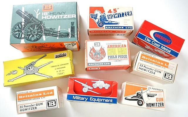 NINE TOY CANNONS, Britains LTD; No.9740 18