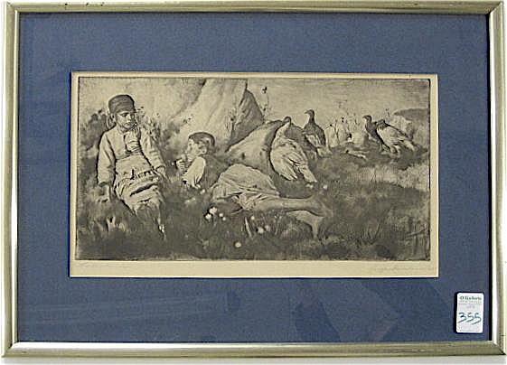 GUSZTAV MAGYAR-MANNHEIMER ETCHING AND DRYPOINT