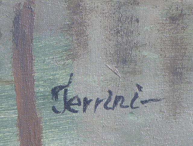 ALBERTO TERRINI OIL ON CANVAS (Italian, 19th