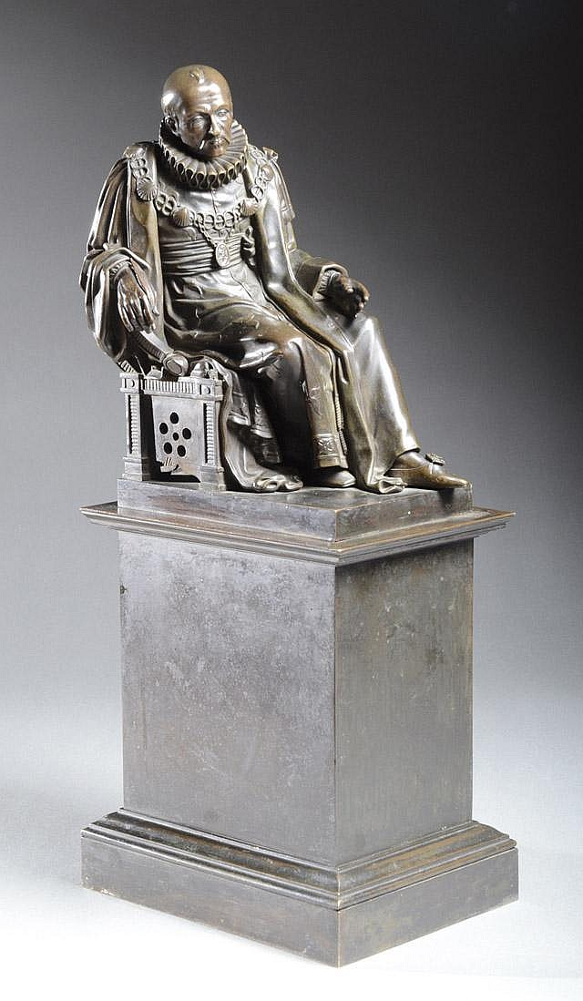 JEAN-MARIE PIGALLE BRONZE SCULPTURE (French,