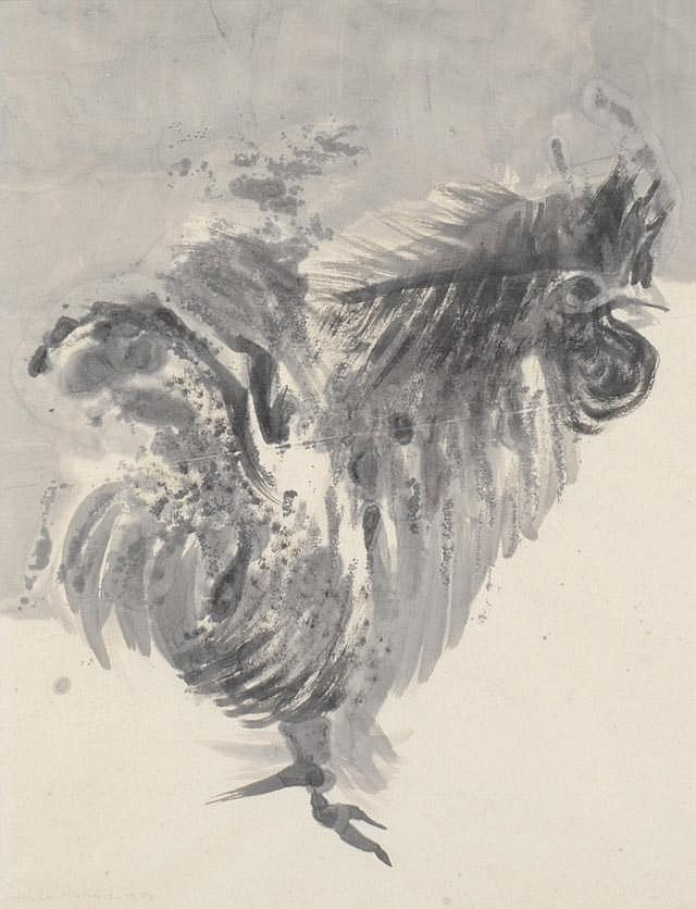 HILDA MORRIS SUMI INK DRAWING ON PAPER (American,