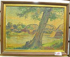 ELIZABETH RUNGIUS FULDA (New York, 1879-1968) Oil