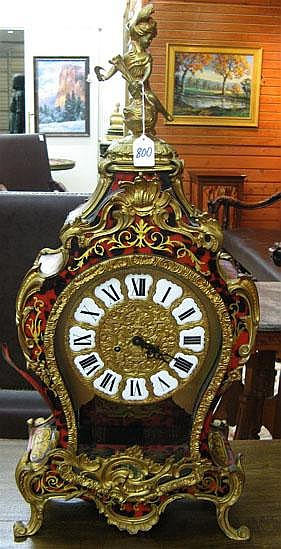LOUIS XV STYLE MANTEL CLOCK, after the works of