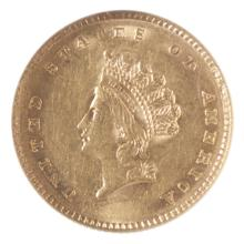 U.S. ONE DOLLAR GOLD COIN, Indian head type 2, 185