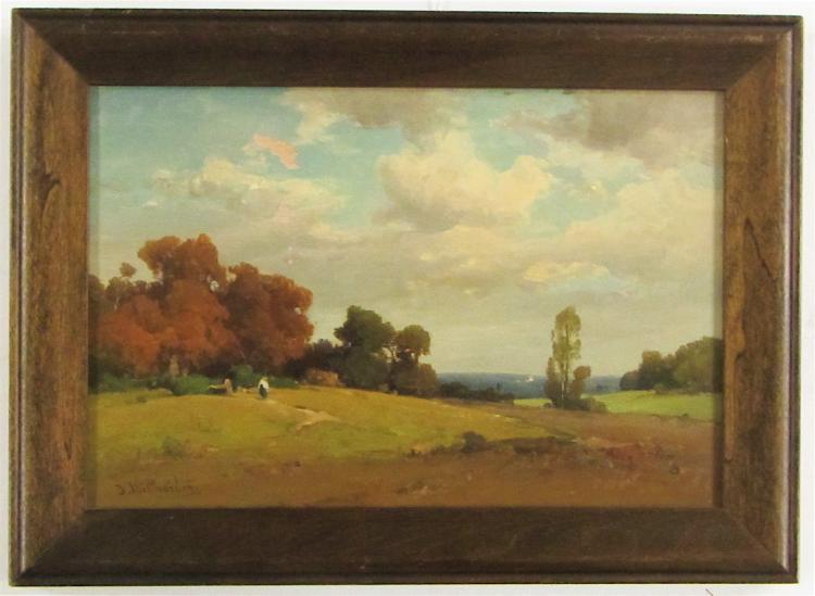 JOSEF WILLROIDER OIL ON BOARD (Austria, 1838-1915)