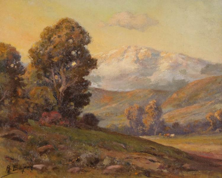 ANGEL ESPOY OIL ON CANVAS (California, 1879-1963)