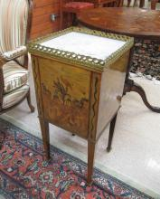 NEOCLASSICAL STYLE MARQUETRY BEDSIDE CABINET, Ital