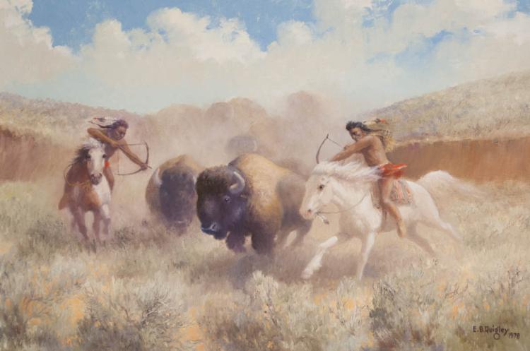 EDWARD B. QUIGLEY OIL ON CANVAS (OREGON, 1895-1986