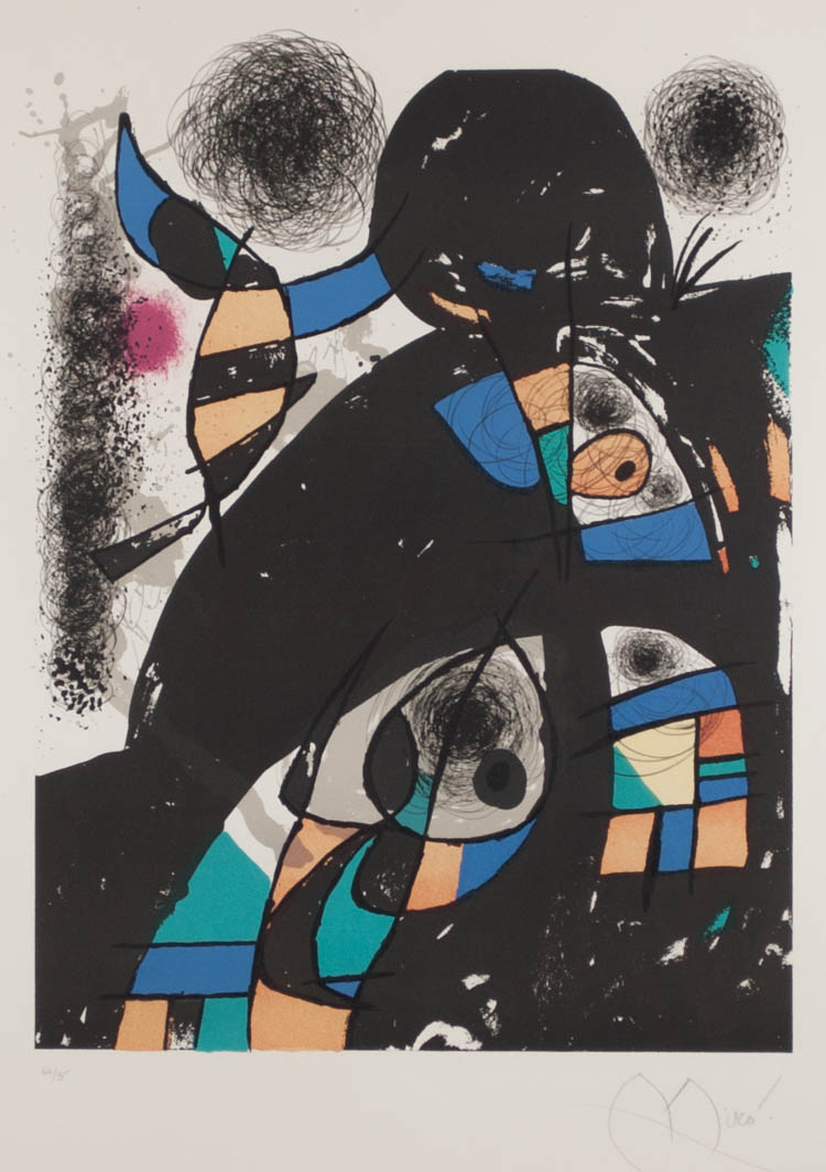 JOAN MIRO COLOR LITHOGRAPH (Spain/France, 1893-198
