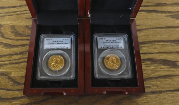 TWO 2000-P SACAGAWEA GOODACRE PRESENTATION GOLDEN