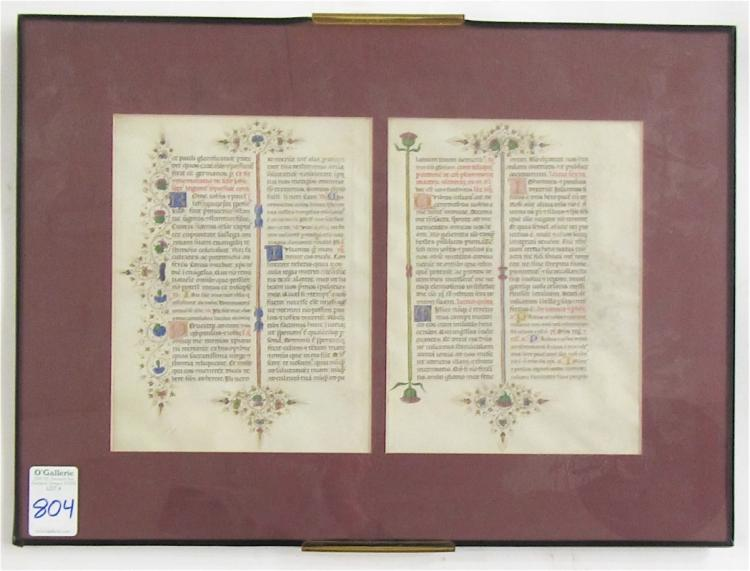 CATHOLIC CHURCH HISTORY, ILLUMINATED MANUSCRIPTS,