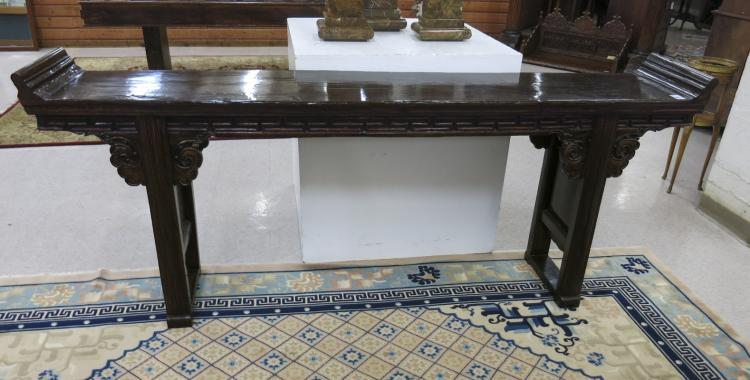 EXTRA LONG MING STYLE ALTAR TABLE, Chinese, 19th c