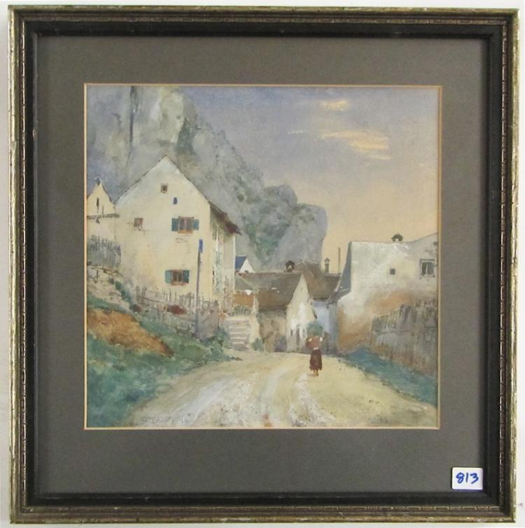 WILHELM JOHANN BADER WATERCOLOR ON PAPER (Germany,