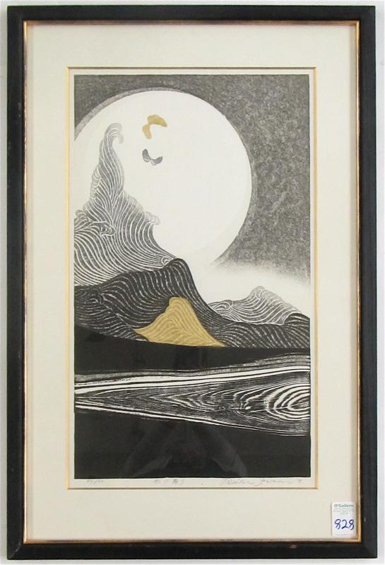 REIKA IWAMI WOODCUT (Japan, born 1927) Landscape w