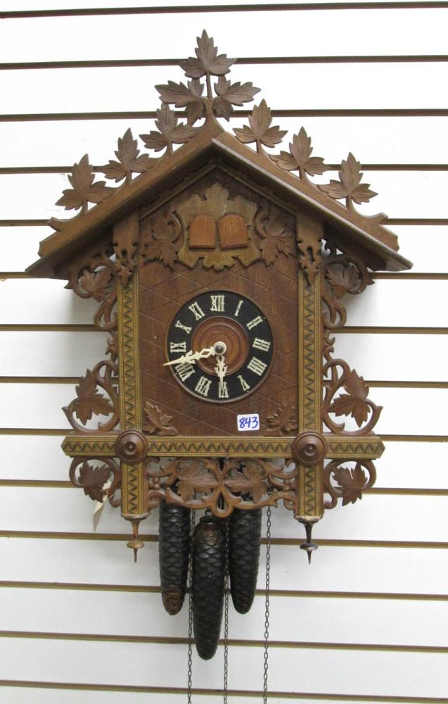 THREE-WEIGHT CUCKOO WALL CLOCK, Wilheim (William)