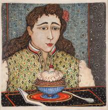 RENE RICKABAUGH (Oregon, born 1947) hand painted c